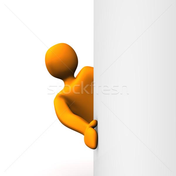 Laranja desenho animado mulher fundo ver pessoa Foto stock © limbi007