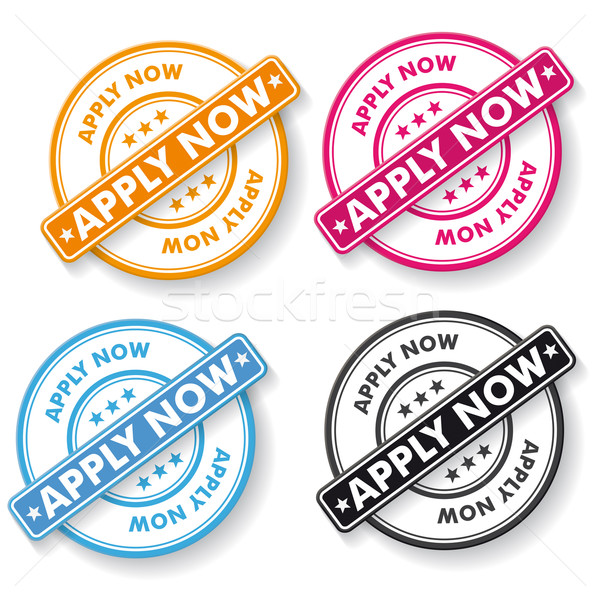 Apply Now Papper labels Stock photo © limbi007
