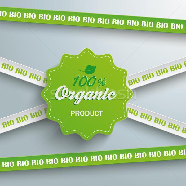 Bio Sticker Lines 100 Organic Stock photo © limbi007