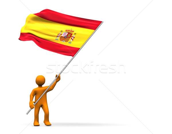 ファン スペイン スペイン国旗 3次元の図 サッカー スポーツ ストックフォト © limbi007