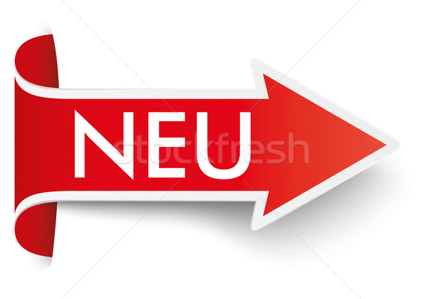 Convert Red Arrow Banner Neu Stock photo © limbi007