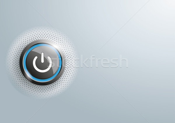 Power Button Halftone Gray Copyspace Stock photo © limbi007