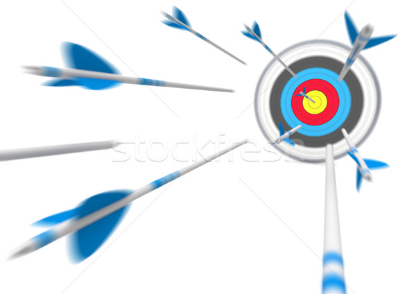 Target Flying Arrows Stock photo © limbi007