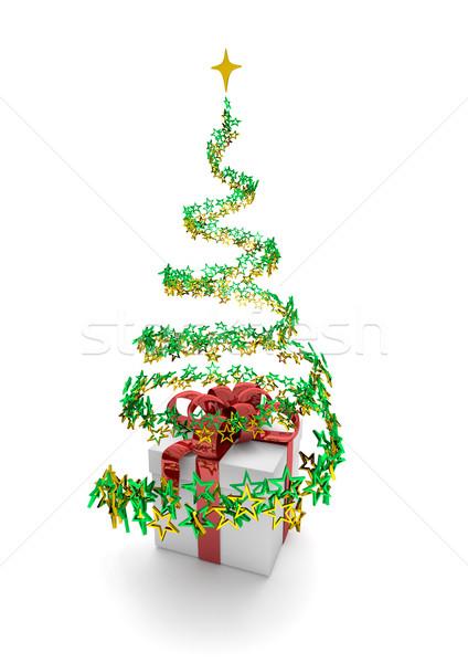 Gift Stardust Christmas Tree Stock photo © limbi007