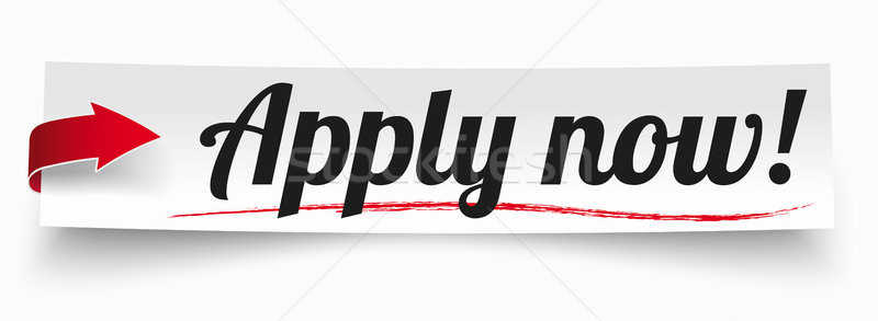 Paper Banner Red Arrow Apply Now Stock photo © limbi007