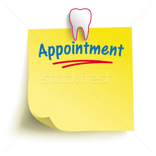 Yellow Stick Tooth Pin Appointment Stock photo © limbi007