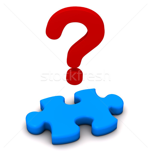 Puzzle Question Mark Stock photo © limbi007