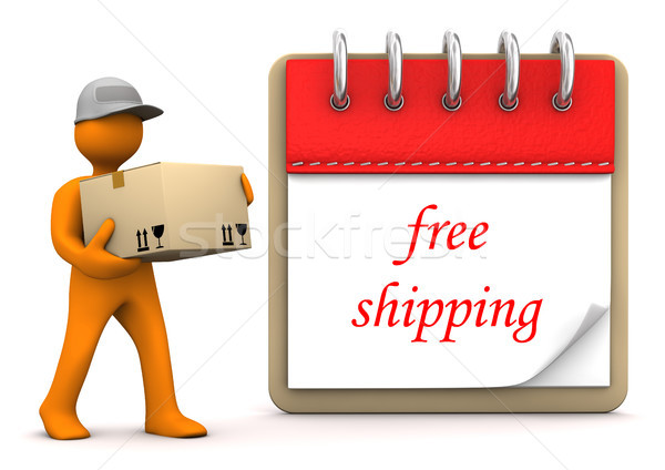Manikin Notepad Free Shipping Stock photo © limbi007