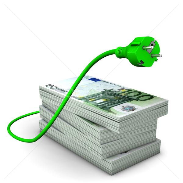 Scump euro notiţe putere bani Imagine de stoc © limbi007