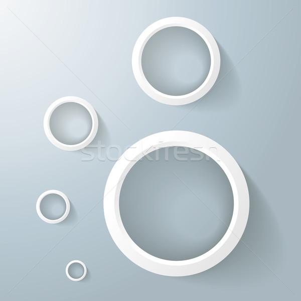 White Rings Golden Ration Stock photo © limbi007