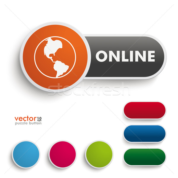 Online Button Stock photo © limbi007