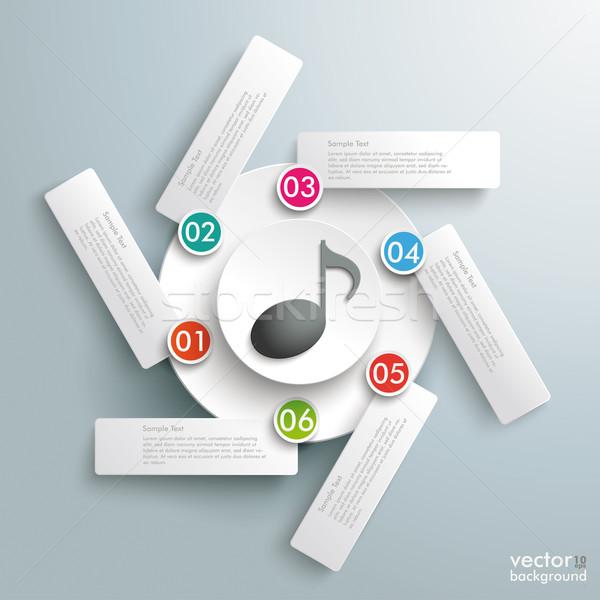 Rotación infografía música nota centro círculos Foto stock © limbi007