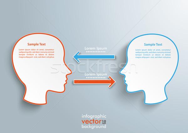 Stock fotó: Nyilak · infografika · szürke · eps · 10 · vektor