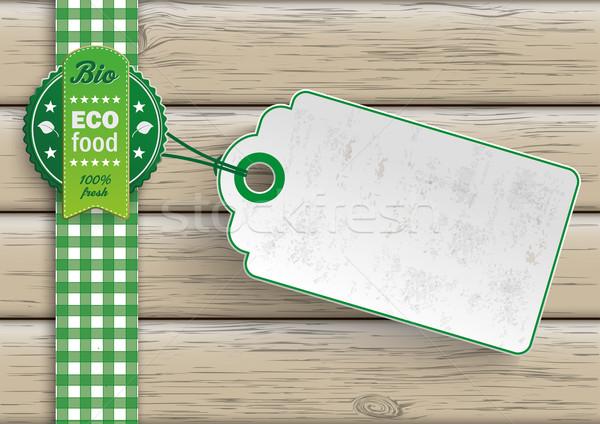 Bio Eco Food Price Sticker Stock photo © limbi007