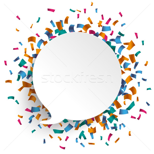 Speech Bubble Confetti Stock photo © limbi007