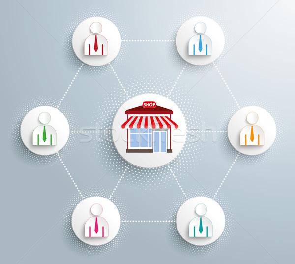 магазин компания бизнесменов сеть прибыль на акцию 10 Сток-фото © limbi007