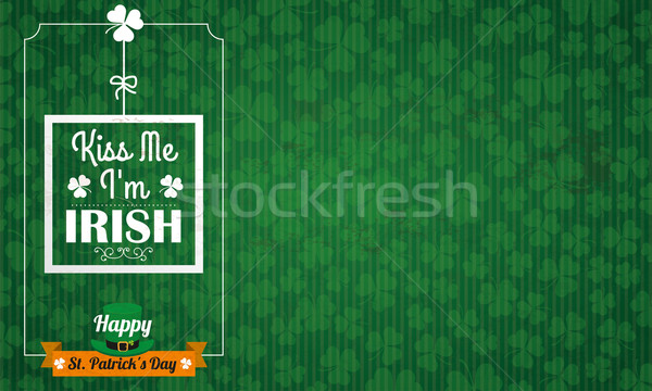Long Vintage Background St Patricks Day Kiss Me Stock photo © limbi007