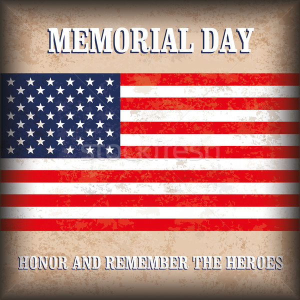 Vintage Background US Flag Memorial Day Stock photo © limbi007