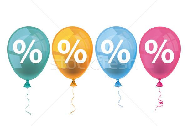 4 Colored Balloons Percents Stock photo © limbi007