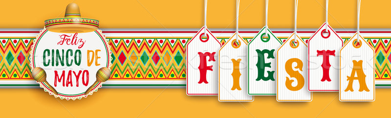 Cinco De Mayo Ornament Headline Emblem Fiesta Stock photo © limbi007