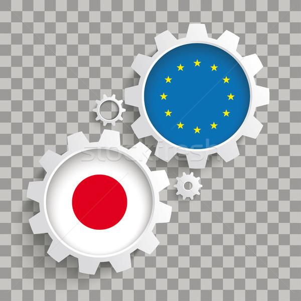 Евросоюз Япония передач прозрачный белый Сток-фото © limbi007