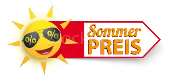 Funny Sun Sunglasses Percents Sommer Preis Stock photo © limbi007