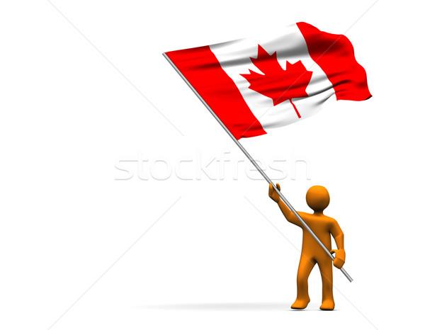 Flag of Canada Stock photo © limbi007