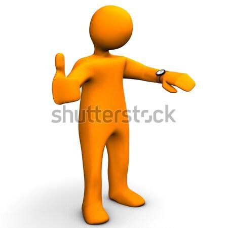 Alegre humor laranja emoticon branco Foto stock © limbi007