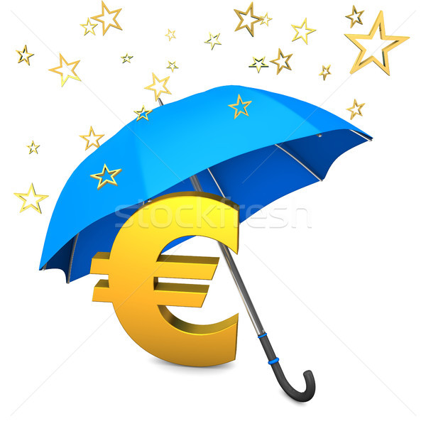 фонд звезды синий зонтик деньги Сток-фото © limbi007
