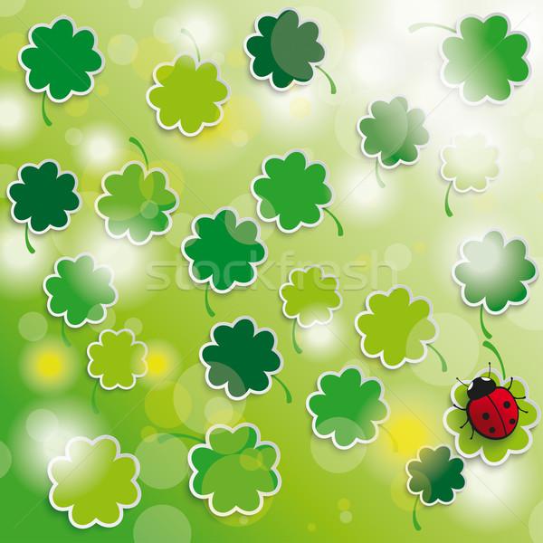 Primavera carta shamrock colorato Pasqua eps Foto d'archivio © limbi007