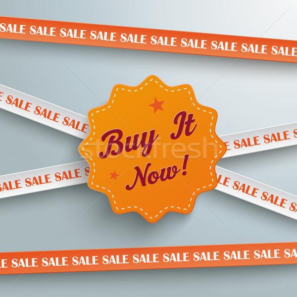 Sale Sticker Lines Buy it Now Stock photo © limbi007