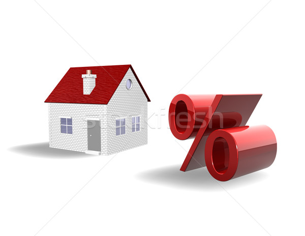 Real Estate Falling Prices 3d Stock photo © limbi007