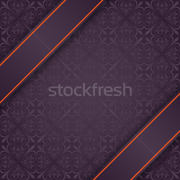Square Ornaments Double Banner Red Flag Stock photo © limbi007
