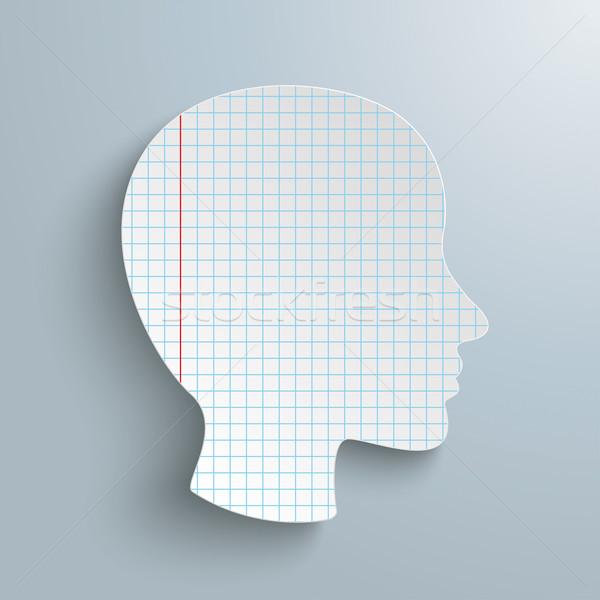 Human Head Checked Paper Stock photo © limbi007