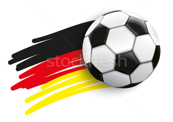 German Flag Flying Football Stock photo © limbi007
