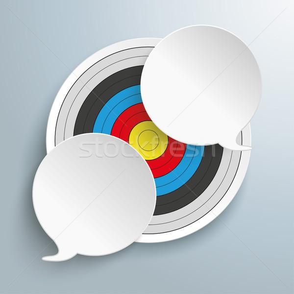 Stockfoto: Target · pleinen · grijs · eps