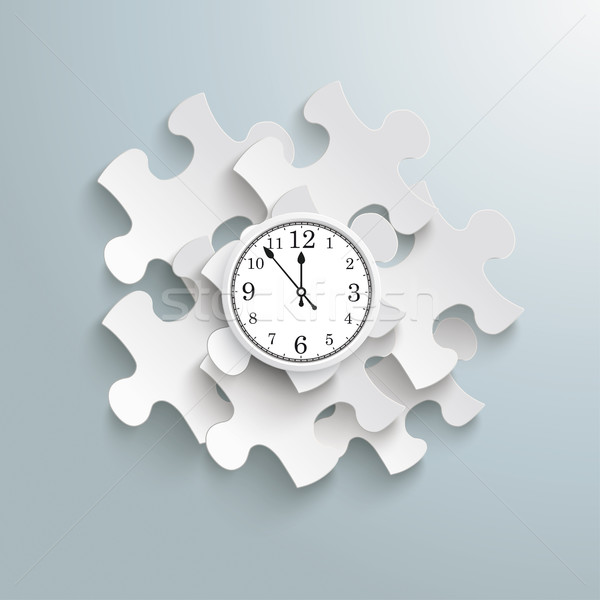 Puzzle Infographic Clock Stock photo © limbi007