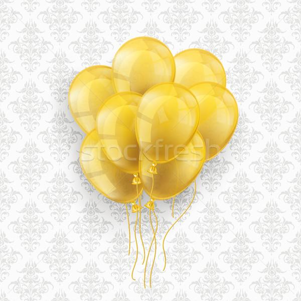 Dorado globos adornos wallpaper eps 10 Foto stock © limbi007