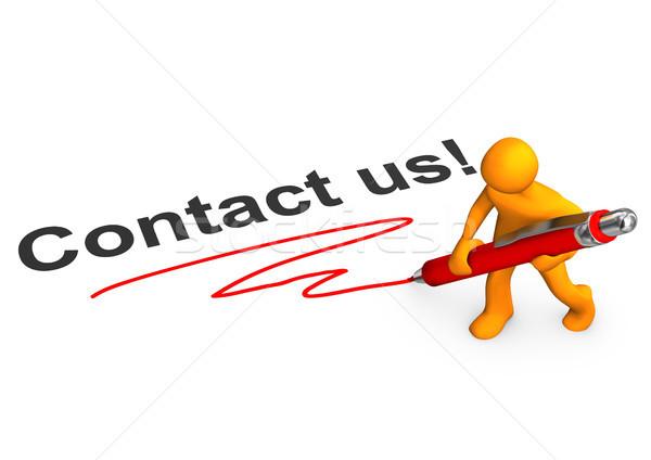 Manikin Contact Us Stock photo © limbi007