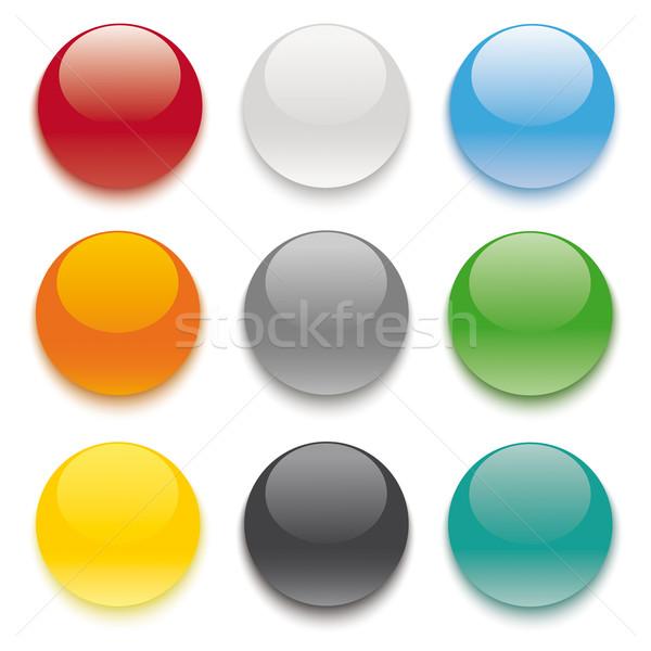 9 Colored Buttons Stock photo © limbi007