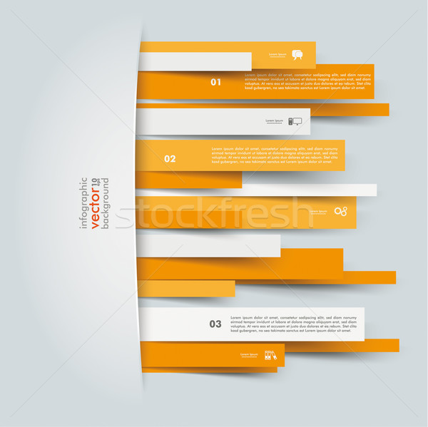 Convert Orange Paper Stripes Stock photo © limbi007
