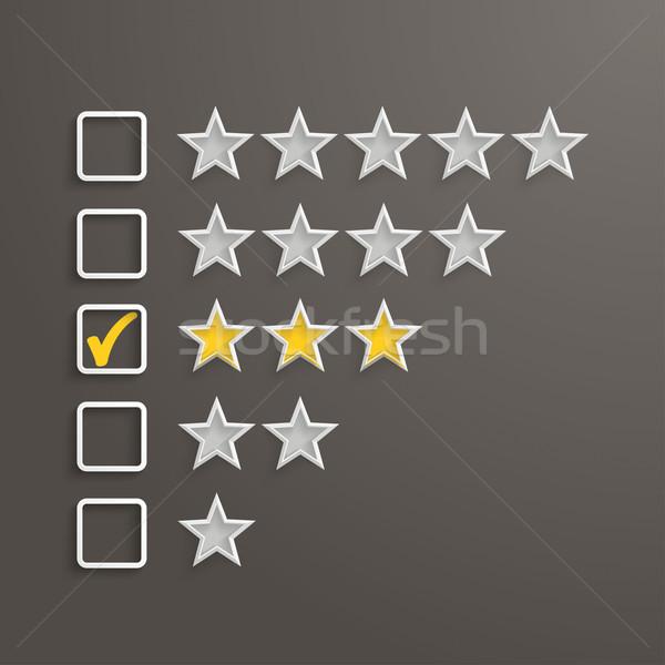 3 Stars Rating Stock photo © limbi007