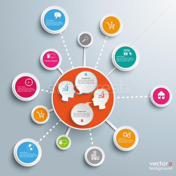 Successful Networks 2 Heads Dialog Stock photo © limbi007