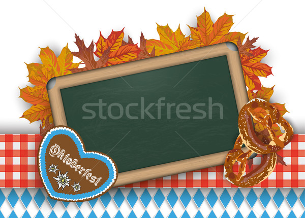 Oktoberfest Blackboard Pretzel  Stock photo © limbi007