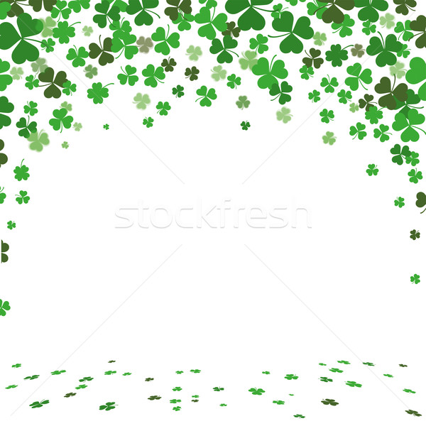 St. Patricks Day Green Shamrocks Cover Stock photo © limbi007