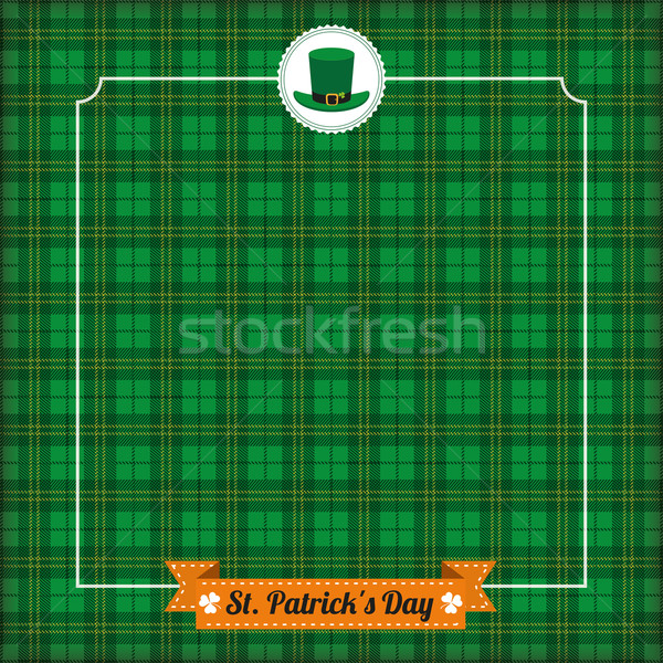 St. Patricks Day Vintage Tartan Cover Ribbon Stock photo © limbi007
