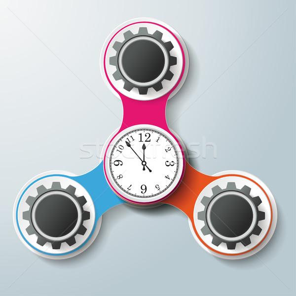 Chain 3 Options Triangle Clock Centre Stock photo © limbi007
