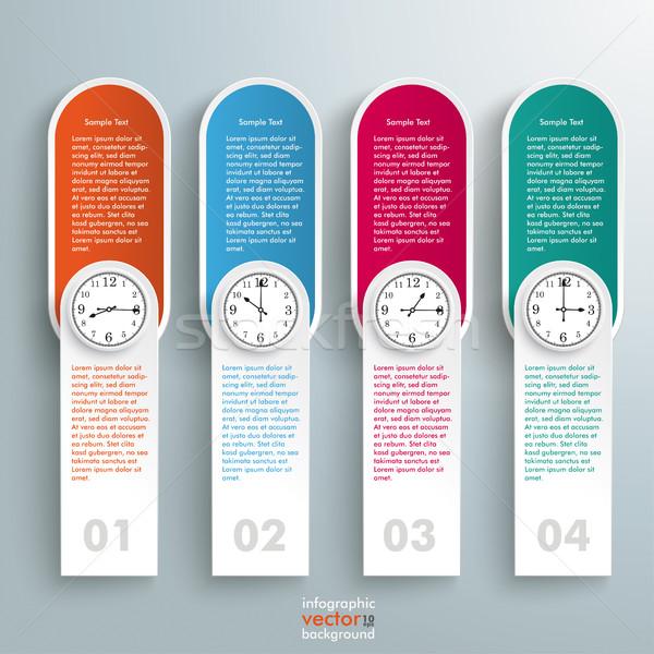Oblong Round Banners Clocks Schedule Stock photo © limbi007