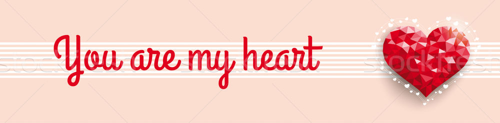 Low Poly You Are My Heart Header Stock photo © limbi007