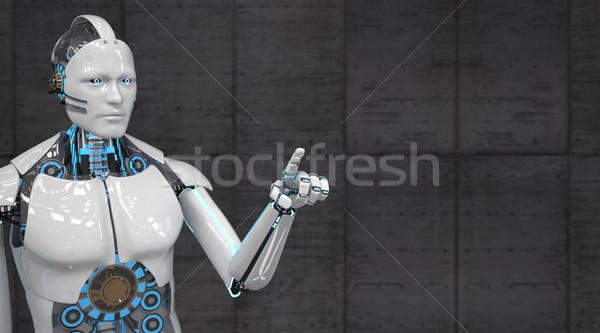 White Robot Click Stock photo © limbi007